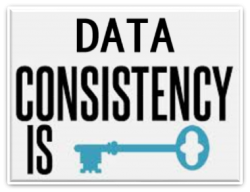 how to find the consistnecy of data
