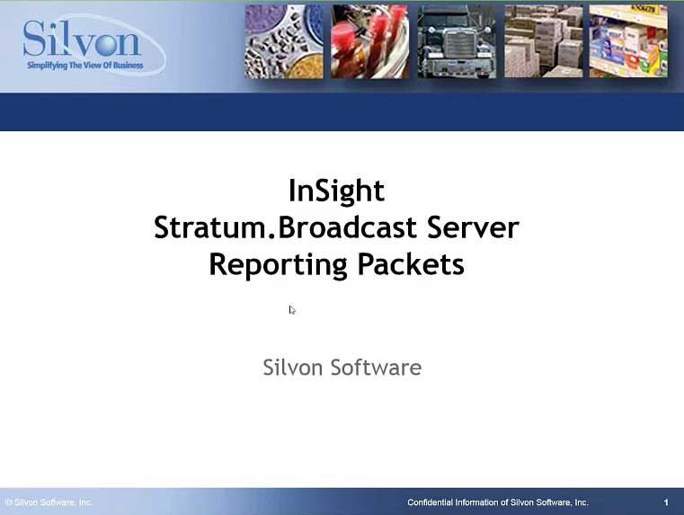 Creating Report Packets with the Stratum Broadcast Server